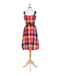 Pippa Sunset Plaid Sundress - Dresses - PICNIC