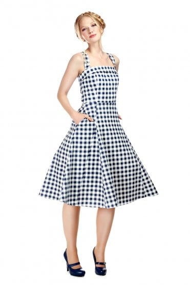 Penelope Gingham Swing Dress - Dresses - PICNIC