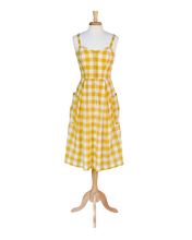 Load image into Gallery viewer, Layla Mustard Plaid Sundress - Dresses - PICNIC