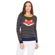 Load image into Gallery viewer, Fox Stripe Sweater - Sweaters - PICNIC