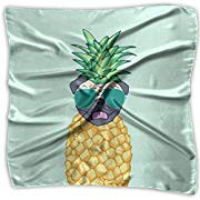 Load image into Gallery viewer, Silky Pineapple Pug Summer Scarf - Scarves - PICNIC