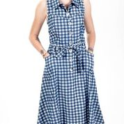 Load image into Gallery viewer, Wilcox Denim Check - Dress - PICNIC