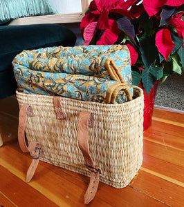 Woven Basket Backpack and Tote
