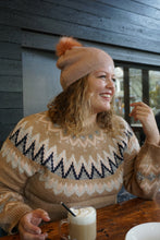 Load image into Gallery viewer, Mocha Beige Fair Isle Pullover Sweater