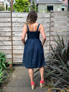 Tie Knot Denim Sundress - Dresses - PICNIC