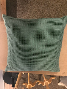 Bright Green Square pillow