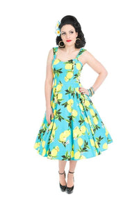 Teal Lemonade Cotton Sundress - Dress - PICNIC