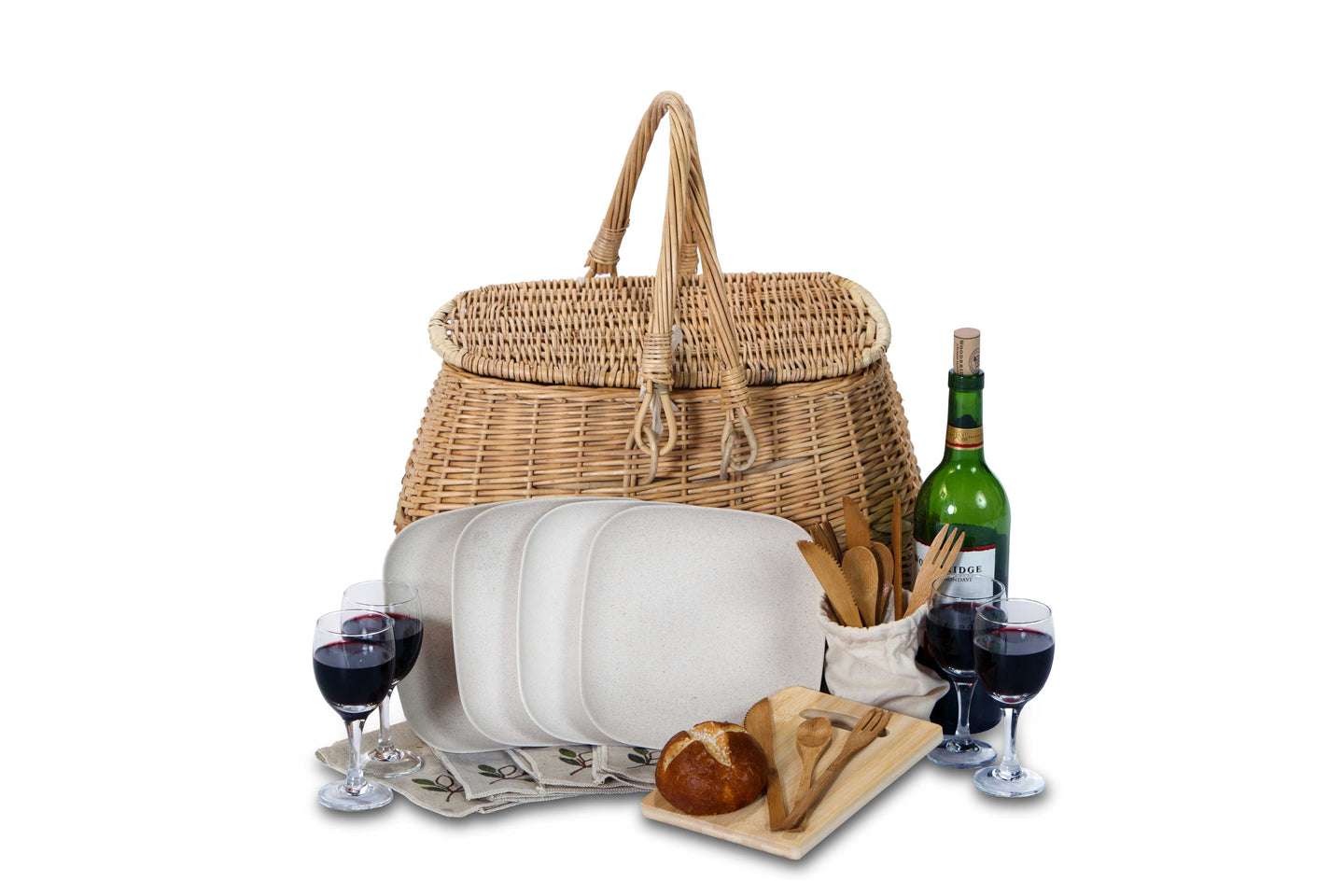 Eco Willow Picnic Basket for Four - Baskets - PICNIC