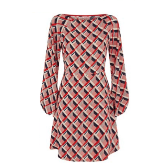 Audrey Red Geometric Dress - Dresses - PICNIC