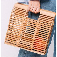Load image into Gallery viewer, Bamboo Cage Clutch - Rectangle - Handbags - PICNIC
