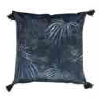 Navy Forest Pillow with Tassles - Pillows - PICNIC