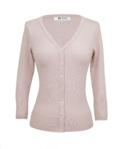 V Neck Cardigan - Blush - Sweaters - PICNIC