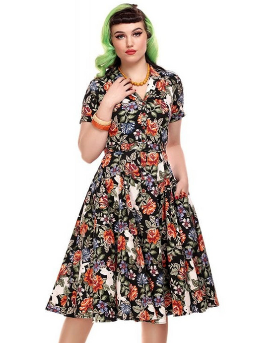 Caterina Forest Floral Swing Dress - Dresses - PICNIC