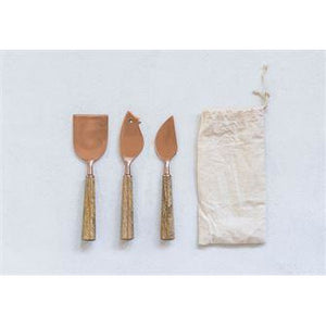 Copper Cheese Knives - in store - Cheese Knives - PICNIC
