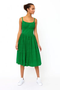 Palm Green Broderie Sundress - Dresses - PICNIC