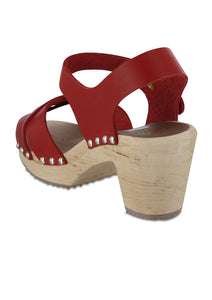Gertrude Clogs in Red - Shoes - PICNIC
