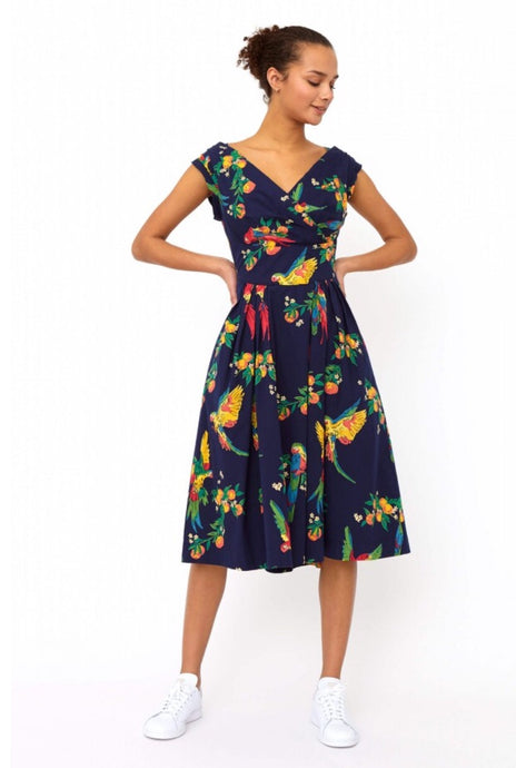 Playful Parrots Florence Dress - Dresses - PICNIC