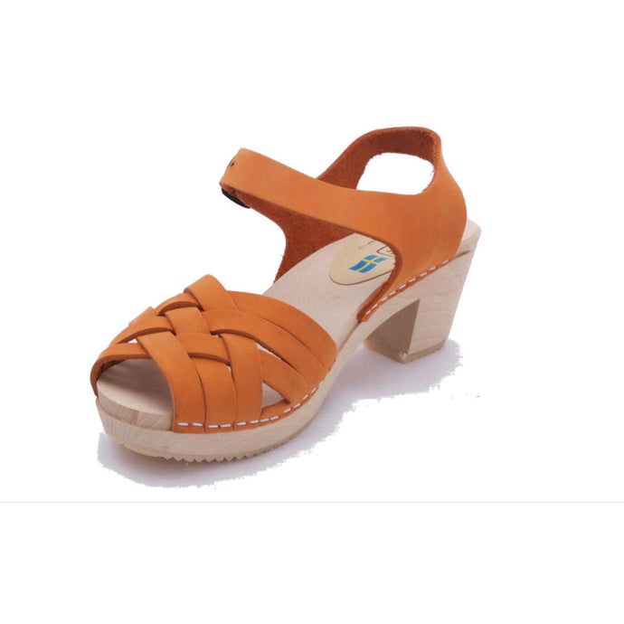 Apricot Braided Wood Clogs - Shoes - PICNIC
