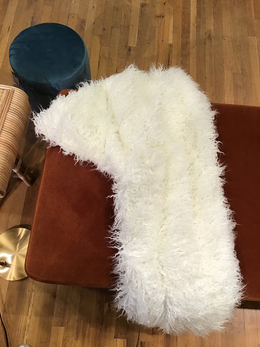 White Faux Fur Throw -  - PICNIC