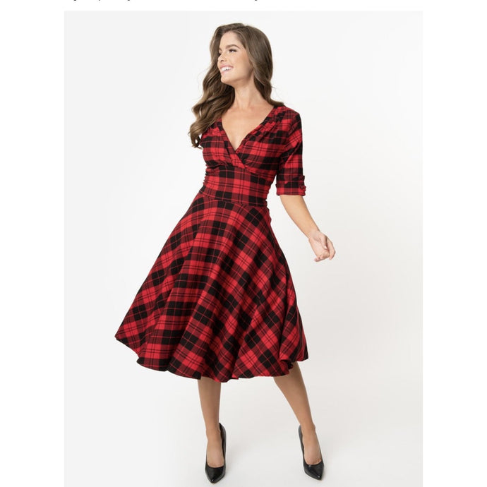 Delores Plaid Swing Dress - Dress - PICNIC