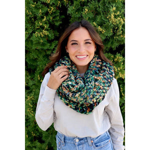 Multi Color Knit Infinity Scarf