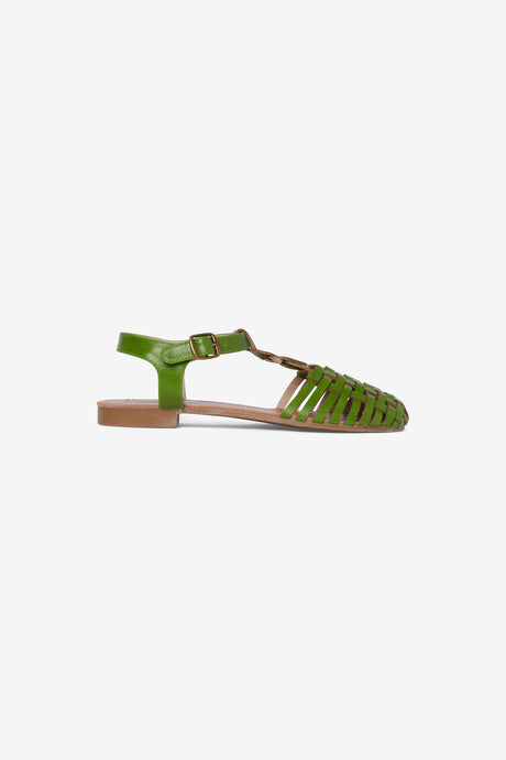 Weave Me Sandal in Green - Shoes - PICNIC