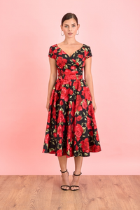 Red Roses  Sorrento Dress - Dresses - PICNIC