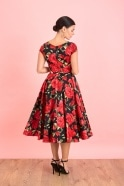 Load image into Gallery viewer, Red Roses  Sorrento Dress - Dresses - PICNIC