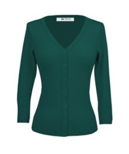 V Neck Cardigan - Dark Teal - Sweaters - PICNIC