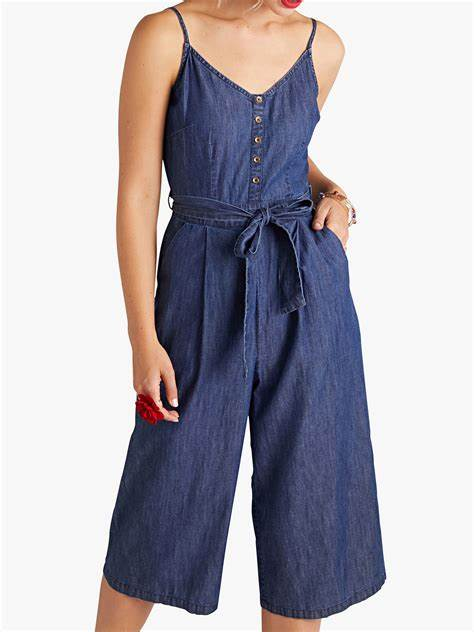 Denim Culotte Jumpsuit - Jumpsuits - PICNIC