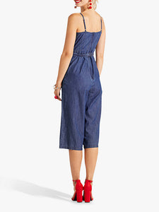 Denim Culotte Jumpsuit