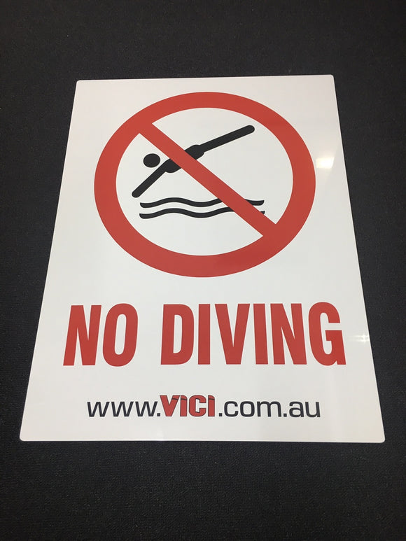 Sign: No Diving