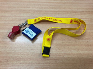 Lifeguard Lanyard Combo (incl Whistle & CPR Mask)