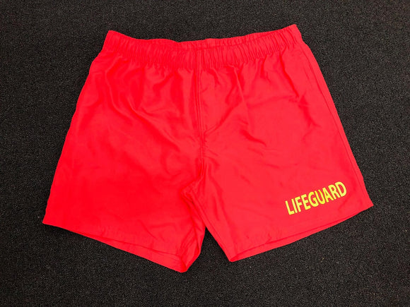 Lifeguard Shorts (basic style in red)