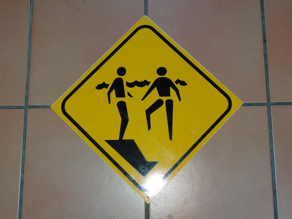 Sign: Steep drop Off [CLEARANCE] (3 only)