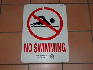 Sign: No Swimming [CLEARANCE] (8 only)