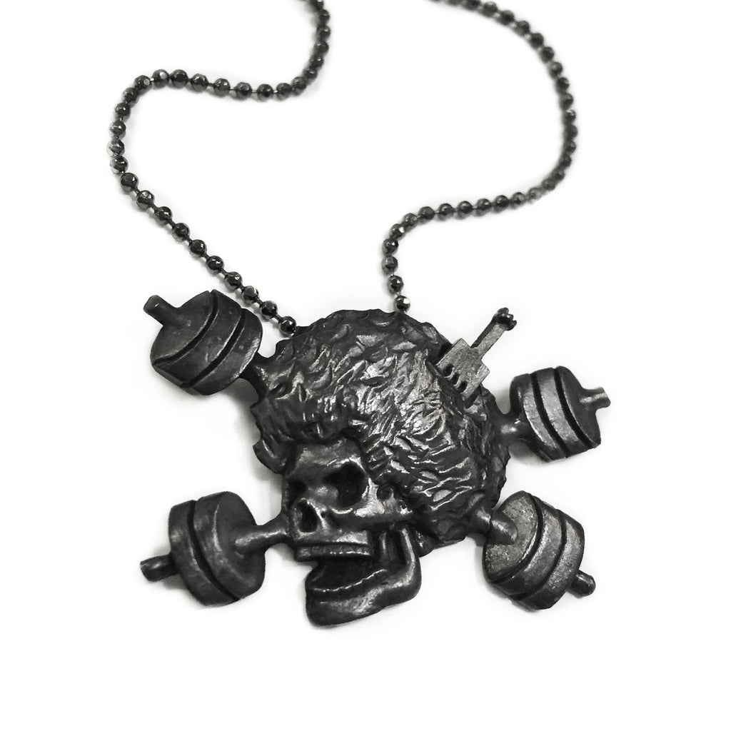 Skull and Barbells by Afrobrutality - Oxidized