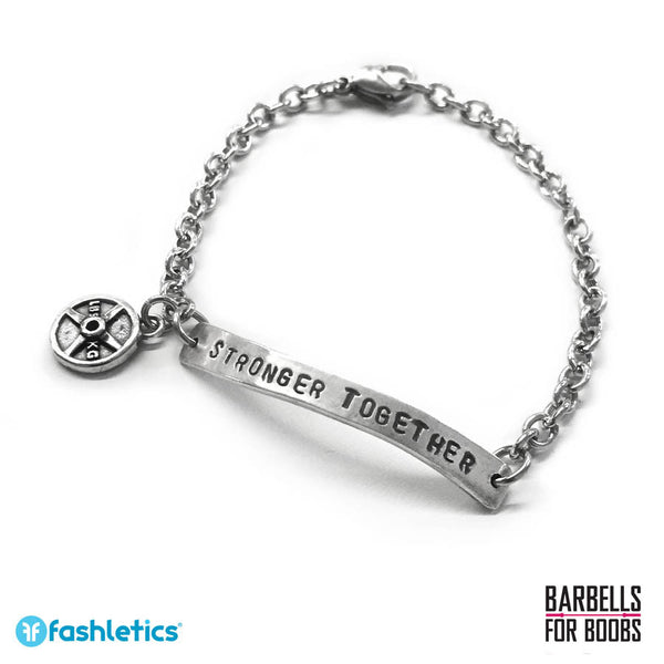 Weightlifting Bracelet Barbells for Boobs Jewelry