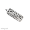 believe in yourself inspirational charm