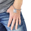 Dumbbell/Believe In Yourself (square) Charm Bracelet
