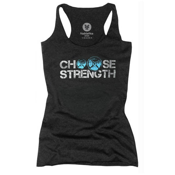 Choose Strength Weight Plate Tank (aqua/charcoal)