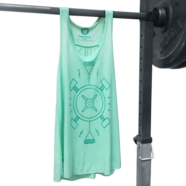 workout tank fitness symbols