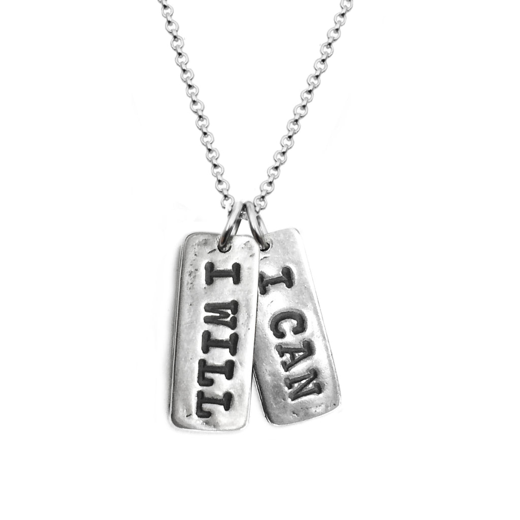 I WILL I CAN Necklace - Sterling Silver