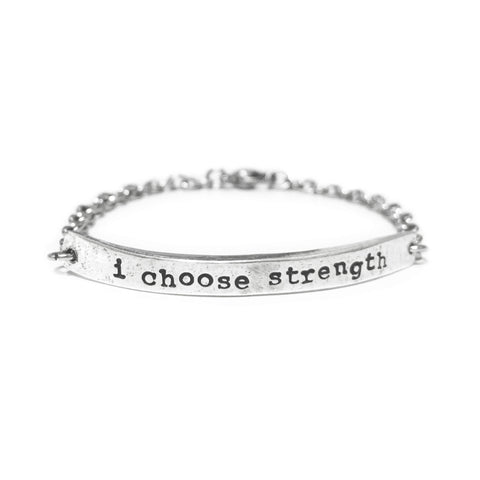 I Choose Strength Bracelet