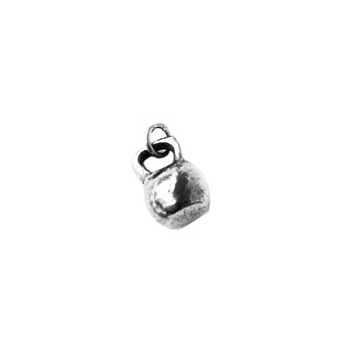 kettlebell charm sterling silver
