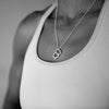 Kettlebell Love Necklace - Sterling Silver