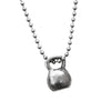Kettlebell Necklace (large pewter)