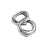 Kettlebell Charm with Heart Sterling Silver