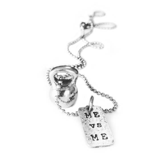 Kettlebell necklace me vs me charm