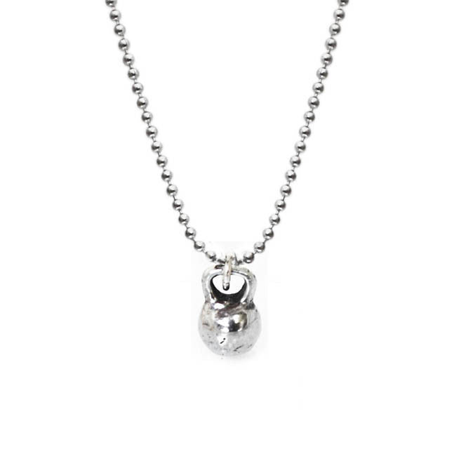 Kettlebell necklace fitness jewelry